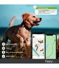 Kippy Evo - Collare GPS per Cani e Gatti con Localizzatore e Rilevatore dell'Attività e dello Stato di Salute