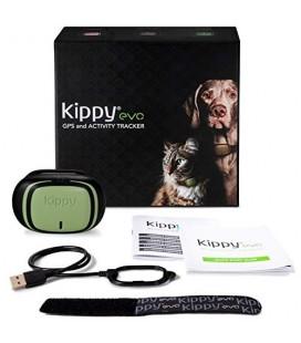 Kippy Evo - Collare GPS per Cani e Gatti con Localizzatore e Rilevatore e Stato di Salute (colore marrone)
