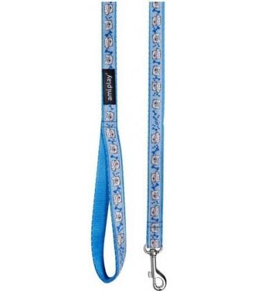 Amiplay Guinzaglio naylon con decorazioni XL 140 cm x 2.5 cm blu