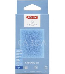 Zolux Filtro per pompa a cascata 30 ca 30 in schiuma blu medio x2.
