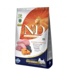 Farmina Natural & Delicious Pumpkin Grain Free Adult Mini con Agnello, Zucca e Mirtillo kg.2.5