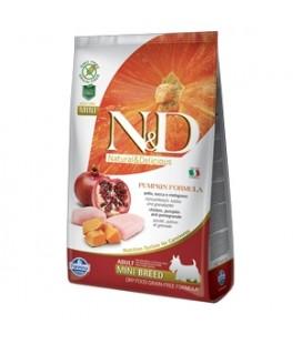 Farmina Natural & Delicious Pumpkin Grain Free Adult Mini con Pollo, Zucca e Melograno 2.5 kg