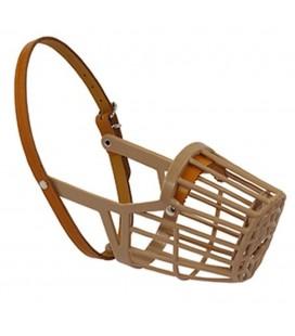 Diza museruola comfort gabbia in plastica e cinturino in cuoio misura 1