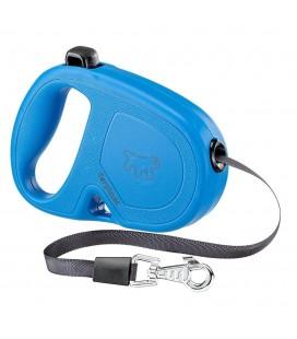 Ferplast Flippy one guinzaglio retrattile con fettuccia Large Blu