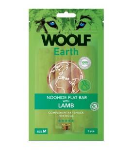 Woolf Earth NOOHIDE M Flat Bar Stick con Agnello gr 90 3 pezzi