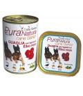 Dalla Grana Pura Natura QUAGLIA con l'aggiunta di Ribes Rosso per cani senior gr 150