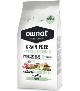 Ownat Grain Free Hypoallergenic per cani al maiale 3 kg