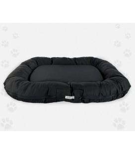 Naso nero tappetone ovale sfoderabile in naylon idrorepellente con manici 100x 80 cm nero