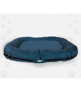 Naso nero tappetone ovale sfoderabile in naylon impermiabile con manici 75x 55 cm blu scuro