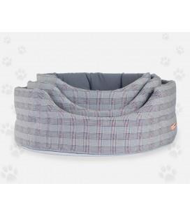Nasonero cuccia ovale lavabile in tessuto scozzese cm 40x30 cm