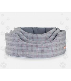 Nasonero cuccia ovale lavabile in tessuto scozzese cm 60x50 cm