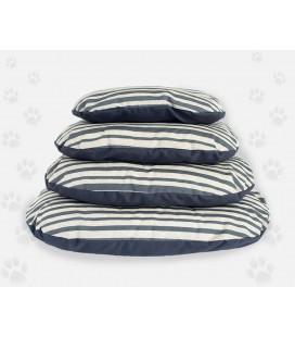 Nasonero cuscino sfoderabile a righe grigie 50x30