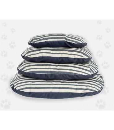 Nasonero cuscino sfoderabile a righe grigie