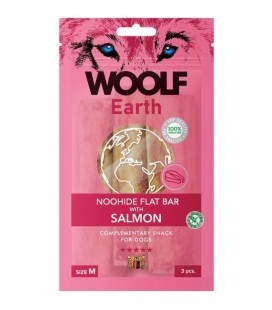Woolf Earth NOOHIDE M Flat Bar Stick con Salmone gr 90 3 pezzi