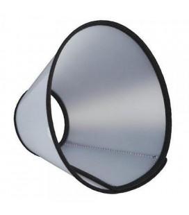 Bobo Collare elisabettiano trasparente con chiusura a strip 12.5x32 cm
