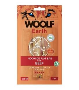 Woolf Earth NOOHIDE M Flat Bar Stick con Manzo gr 90 3 pezzi