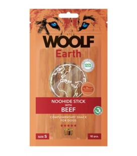 Woolf Earth NOOHIDE S Stick con Manzo gr 90 10 pezzi