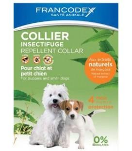 Francodex collare repellente insettifugo per cani da 2 a 10 kg estratti di margosa