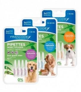 Francodex pipette insettifughe repellenti per cani da 2 a 10 kg estratti di margosa 3pz