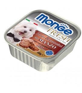 Monge Fresh pate' e bocconcini in vaschetta con manzo gr.100
