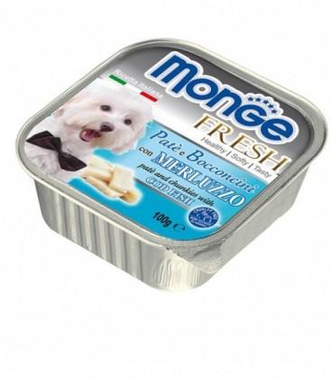Monge Fresh pate' e bocconcini in vaschetta con merluzzo gr.100