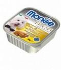 Monge Fresh pate' e bocconcini in vaschetta con pollo gr.100