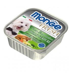 Monge Fresh pate' e bocconcini in vaschetta con pollo e verdure gr.100