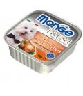 Monge Fresh pate' e bocconcini in vaschetta con tacchino gr.100