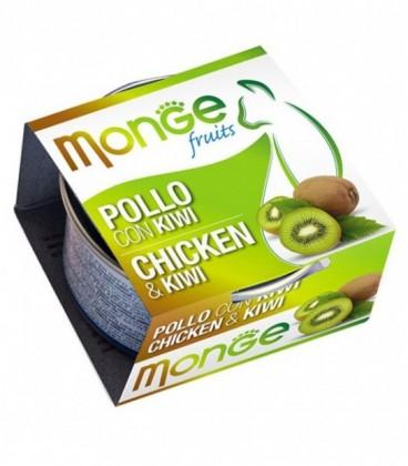 Monge Fruits in scatola con pollo e kiwi gr.80