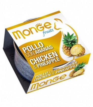 Monge Fruits in scatola con pollo e ananas gr.80