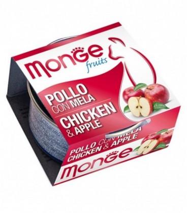 Monge Fruits in scatola con pollo e mela gr.80