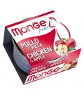 Monge Fruits in scatola con pollo e mela gr.80