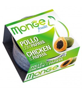 Monge Fruits in scatola con pollo e papaya gr.80