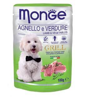 Monge Natural Grill Bocconcini umido in bustina con agnello e verdure gr.100