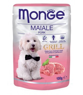 Monge Natural Grill bocconcini umido in bustina con maiale gr.100