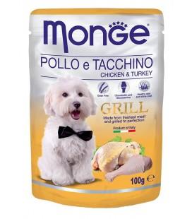 Monge Natural Grill Bocconcini umido in bustina con pollo e tacchino gr.100