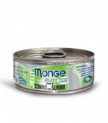 Monge Natural Jelly in scatola filetti di tonno e surimi in gelatina gr.80