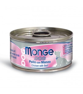 Monge Natural Superpremium in scatoletta con pollo e manzo gr.95