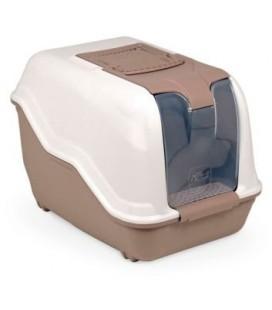 Mps Toilette / cassetta igenica per lettiera chiusa con porta (Marrone & Beige)