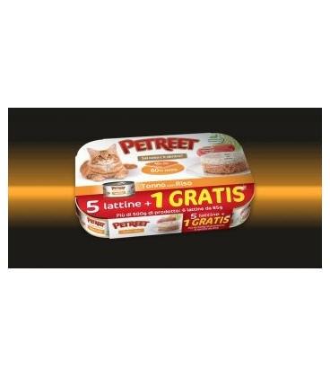 Petreet Natura tonno del pacifico con pollo conf.risp.5+1 omaggio da 70 gr