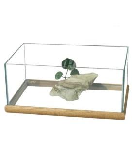 Ottavi tartarughiera con decorazione centrale e base con cornice in legno 39 x 20 cm