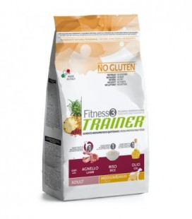 Trainer Fitness 3 adult Medium-Maxi con agnello,riso e olio kg.3