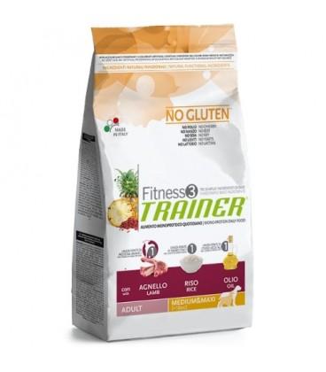 Trainer Fitness 3 adult Medium-Maxi con agnello,riso e olio kg.3