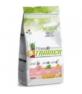 Trainer Fitness 3 monoproteico Adult Mini salmone,mais e olio 2 kg