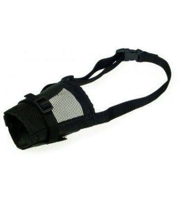Collar museruola in naylon con morso non regolabile 34 cm misura 7 nera