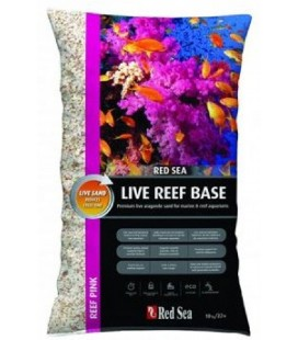 Red Sea Live reef base ocean Pink - kg 10 (Substrato - Sabbia ViVa Super Fina per Acquari marini di colore Rosa)