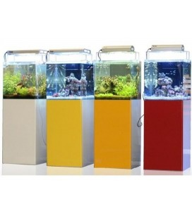 Blau Open Reef 91 con Supporto e Filtro Sump Professionale (Vetro Total Extra Chiaro)