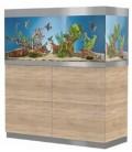 Acquario OASE HighLine 400 con Supporto in Legno di Faggio Finitura Naturale