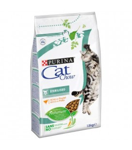 Purina cat chow Naturion sterilised al pollo 1.5 kg