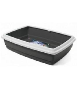 Geoplast Curiel 57 Toilette / cassetta igenica porta lettiera per gatti rettangolare con cornice 50 x 35 cm